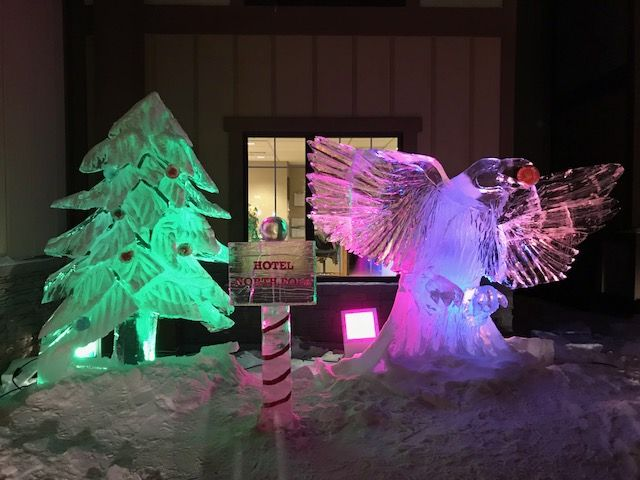 Raven-Ice-Sculpture