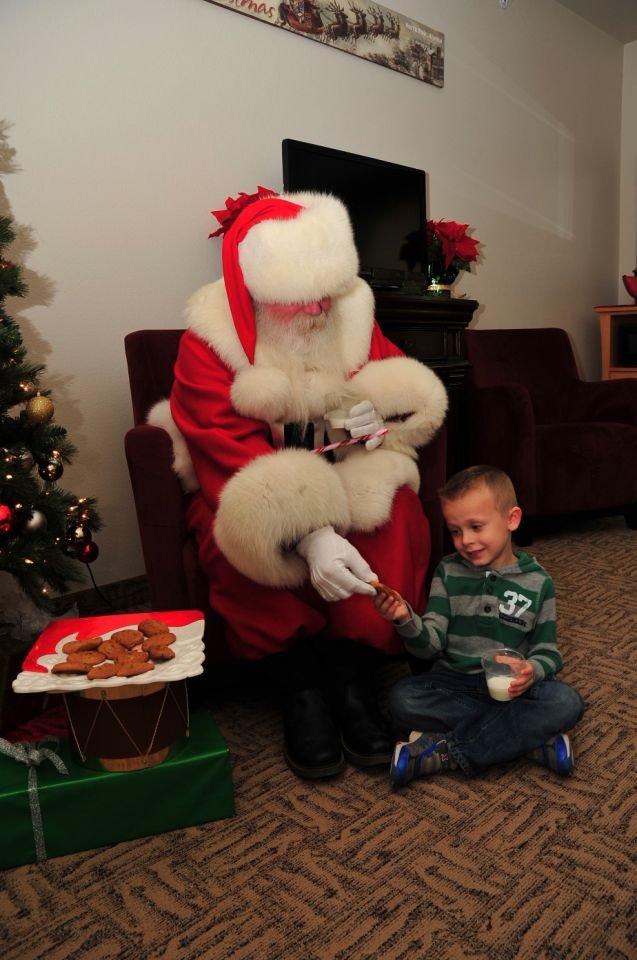 An afternoon with Santa
